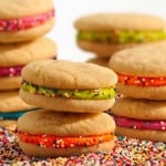 Cake Batter Cookie Stackers