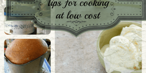 Tips for cooking at low cost
