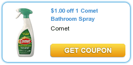 Comet Bathroom Spray Only $.87 At Target