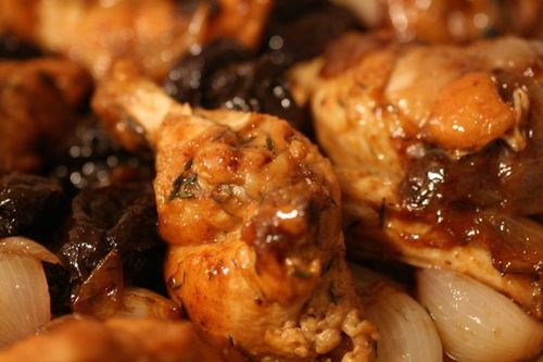 Baked Chicken with Prunes