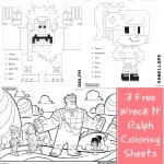3 Free Printable Wreck It Ralph Coloring Sheets