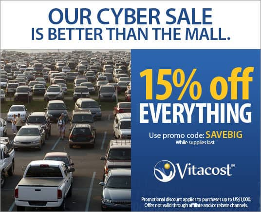 Vitacost Cyber Monday 15% Off STARTS NOW!