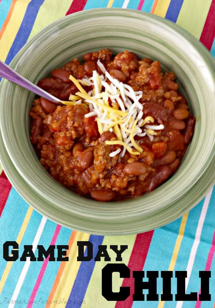 Game Day Red Chili Recipe