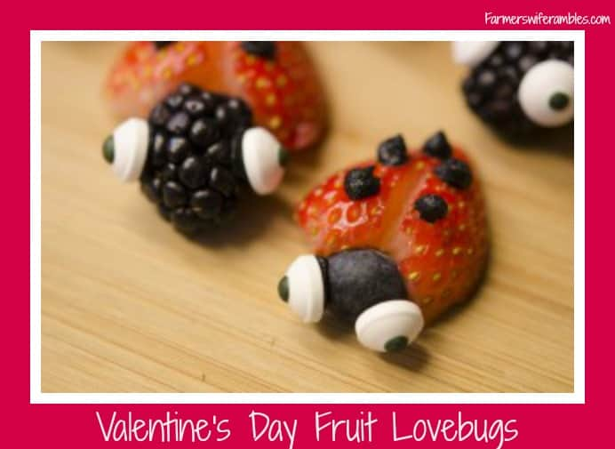 Valentine's Day Fruit Lovebugs
