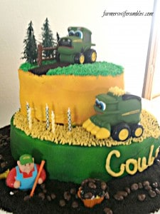 Coulter's John Deere 5th Birthday Cake WM