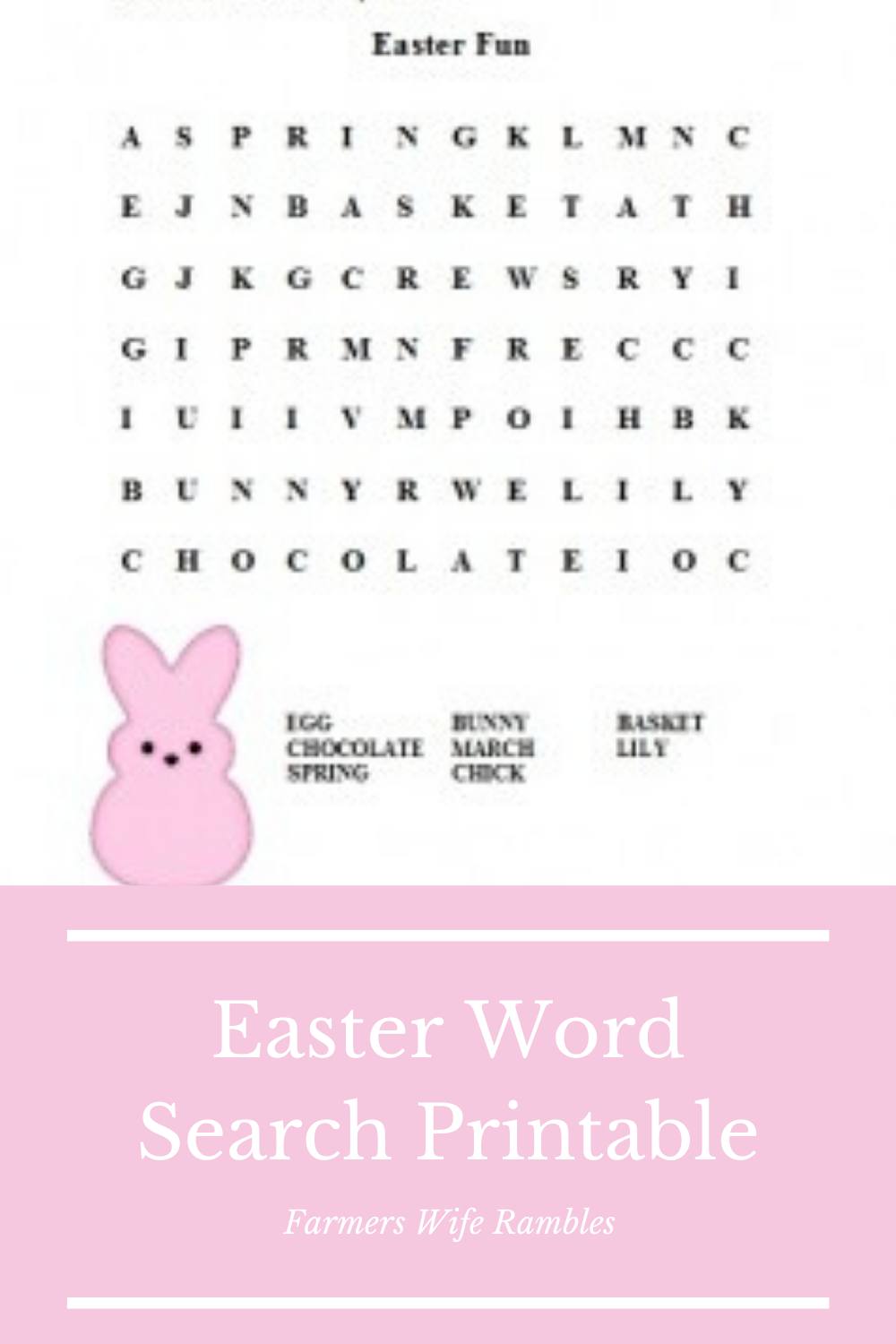 It is a picture of Printable Easter Word Searches within free printable