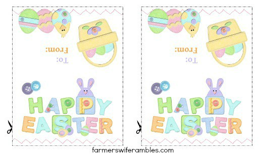 Printable easter treat bag topper farmers wife rambles negle Image collections