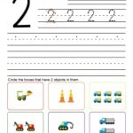 0-9 Number Practice Printables