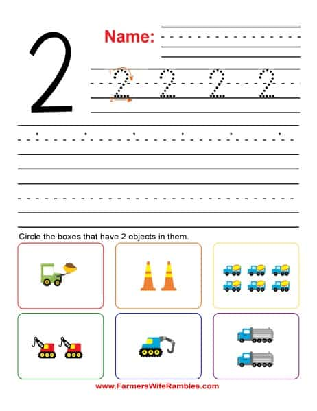 Number Practice Printable