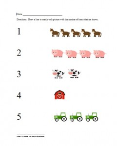 1-5 Farm Worksheet