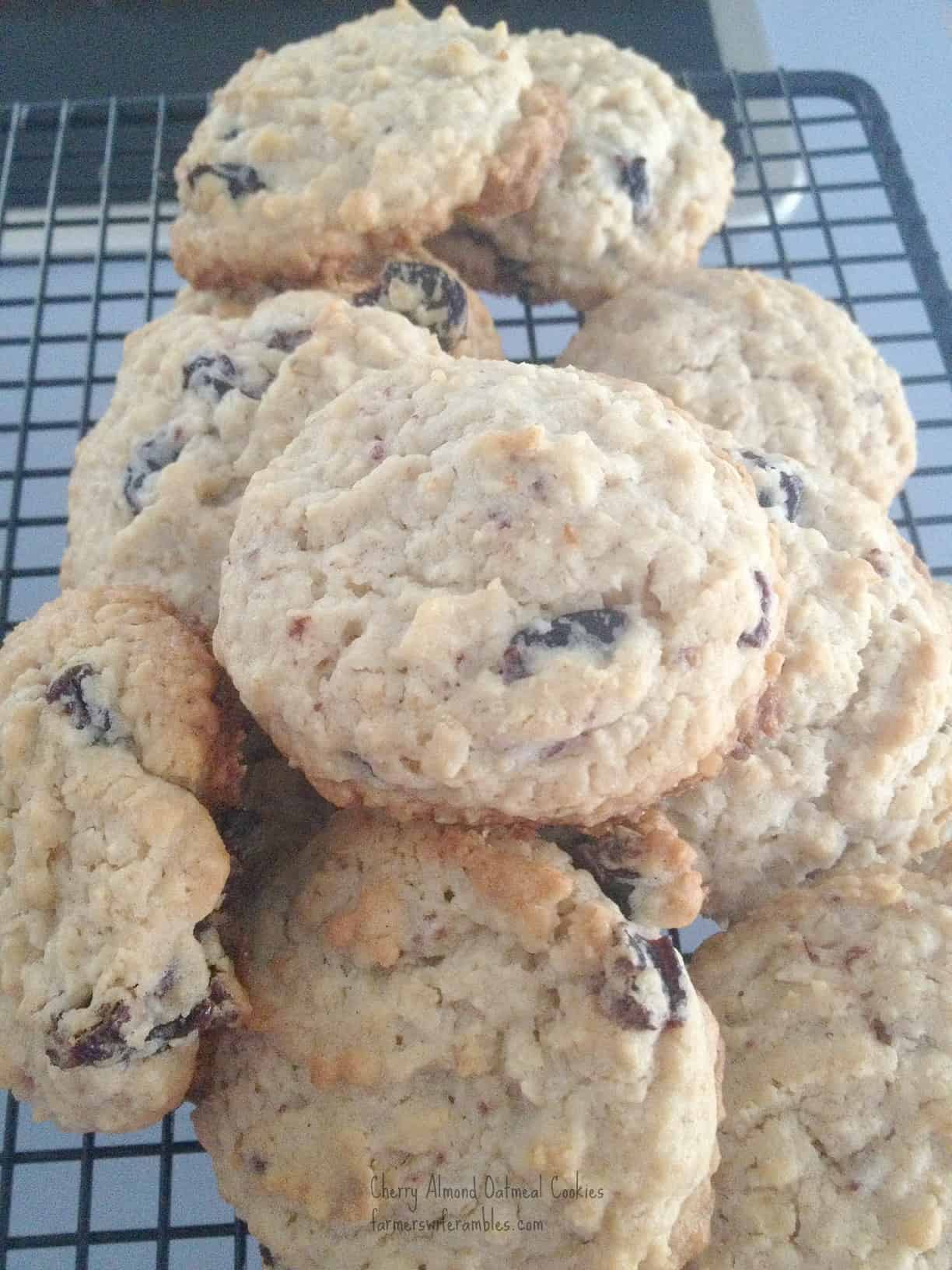 Cherry Almond Oatmeal Cookies WM