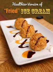 Healthier Fried Ice Cream