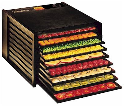 excalibur dehydrator with fruit on the trays