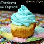 Blue Raspberry Lemonade Cupcake Recipe