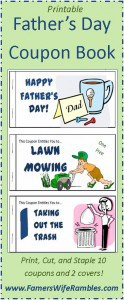 Printable Father's Day Coupon Booklet