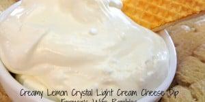 Creamy Lemon Crystal Light Cream Cheese Dip With Splenda