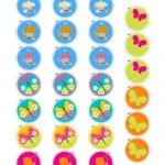 Free Printable Cupcake Toppers – Flowers & Butterflies