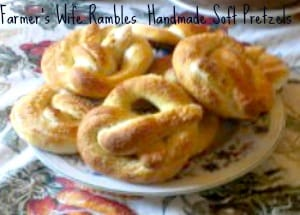 Handmade Soft Pretzels