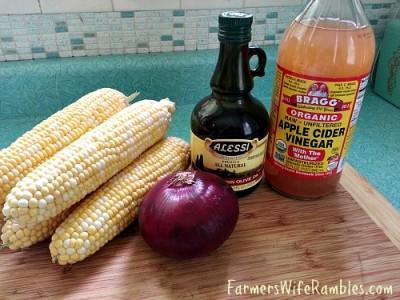 Fresh Corn Salad Ingredients