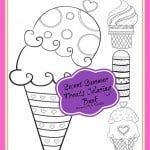 Sweet Summer Treats Free Printable Coloring Book