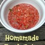Homemade Fresh Salsa Recipe