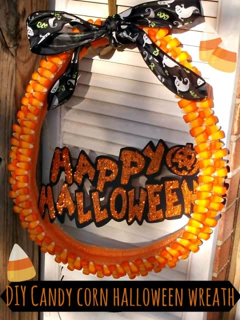 Homemade Candy Corn Wreath For $5