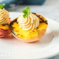 Grilled Peaches With Honey Butter