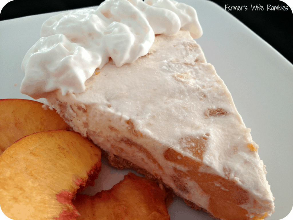 Frozen Peach Pie