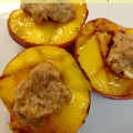 Grilled Peaches With Cinnamon Honey Butter 1