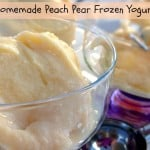 Homemade Peach Pear Frozen Yogurt Recipe