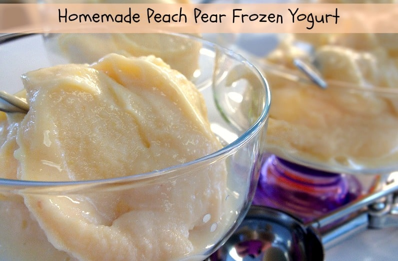 Peach Pear Frozen Yogurt