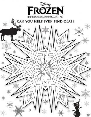 Free Frozen Maze Printable
