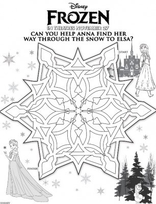 Free Frozen Movie Maze Printable