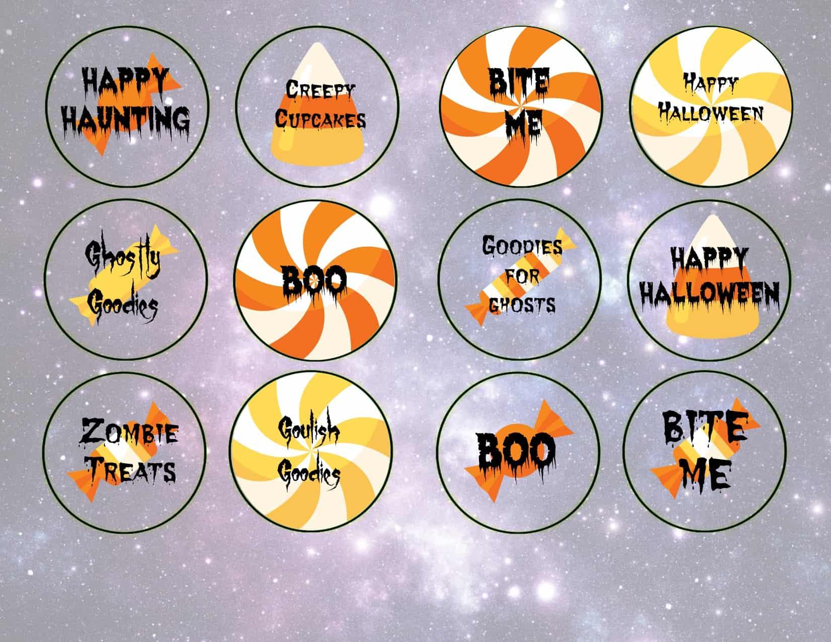 Free Halloween Cupcake Topper Printables