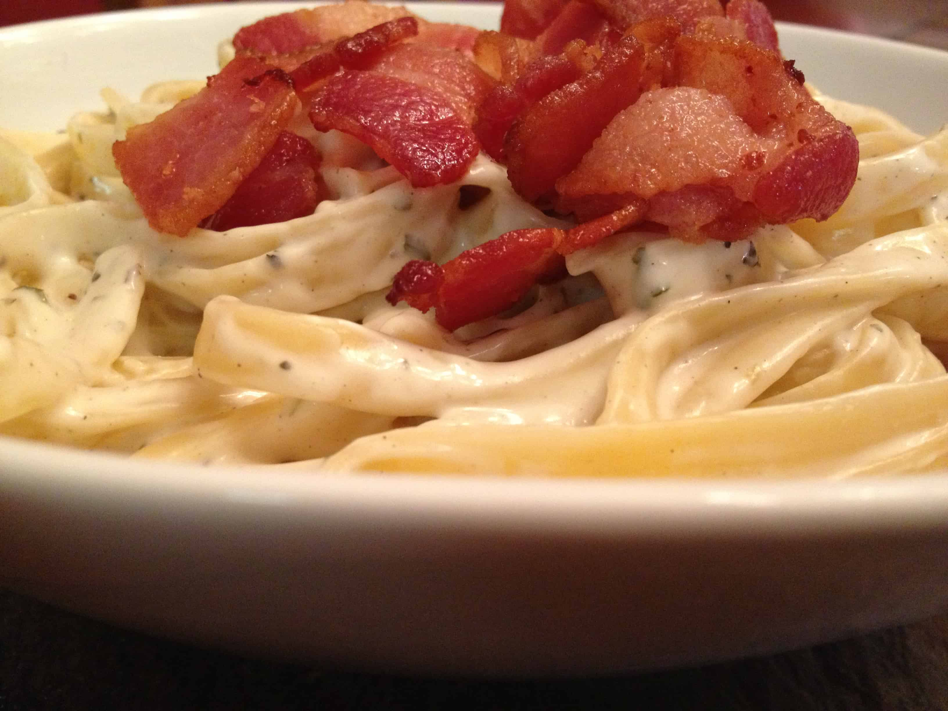 Herbed Cream Pasta with Bacon
