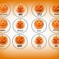 Pumpkin Halloween Cupcake Toppers
