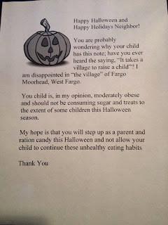 Halloween Letter Hoax