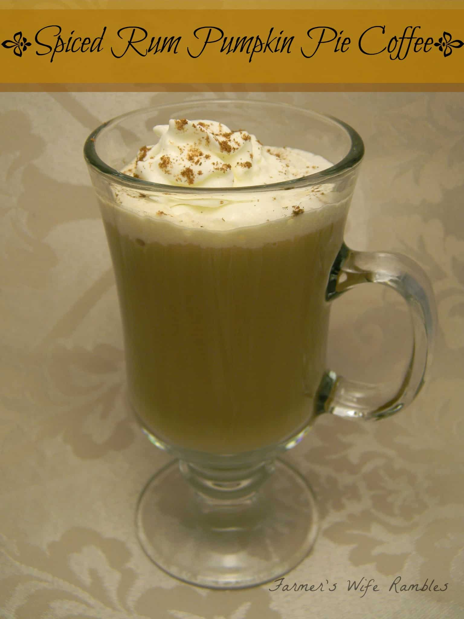 Spiced Pumpkin Pie Coffee Recipe