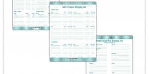 Meal Planner, Budget & Coupon Shopping List Free Printable