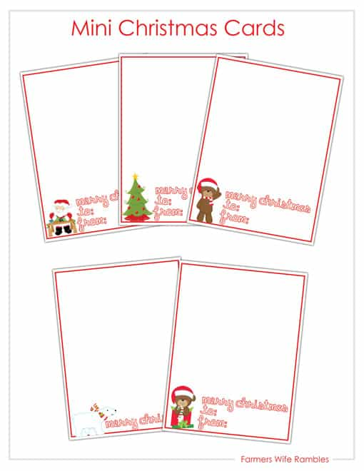 Mini Treat Christmas Cards