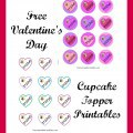 Valentine's Day Cupcake Toppers Printable