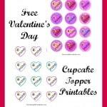 2 Free Valentine's Day Cupcake Topper Printables