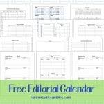 Free 2014 Editorial Calendar Printable