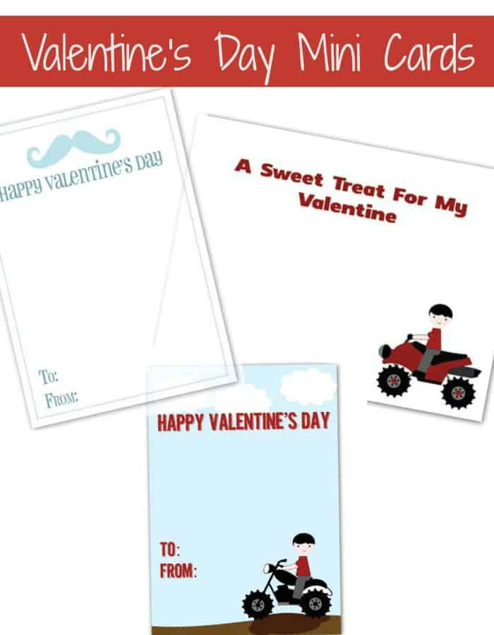 3 free printable valentines day cards