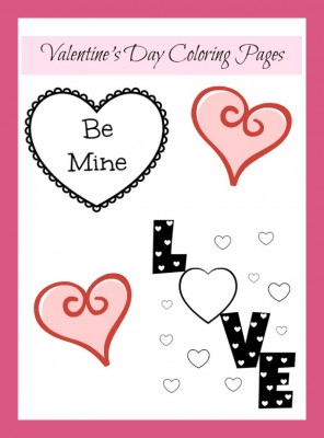 Valentine's Day Coloring Printables