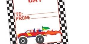 Monster Truck Valentine's Printable
