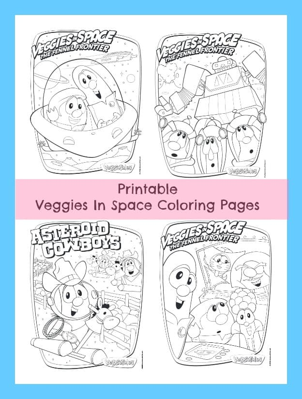 Veggies In Space Coloring Pages