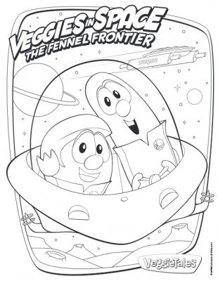 VeggieTales Veggies In Space Coloring Page Printable