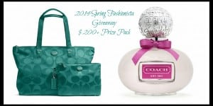 2014 Spring Fashionista ~ $200+ Coach Prize Pack