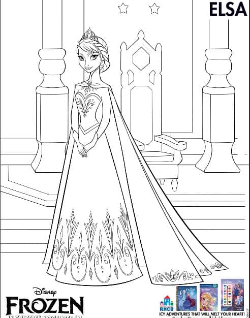 Frozen Coloring Page Printable